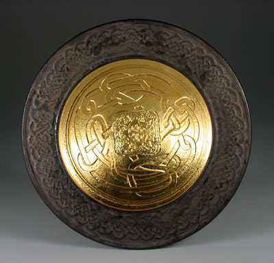 Double walled bowl with gold