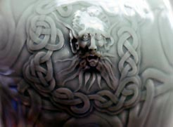 Porcelain jar detail